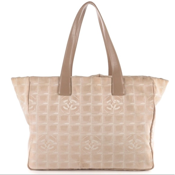 b2fe186c61e CHANEL Handbags - Sale - CHANEL Travel Line Beige Tote - Authentic